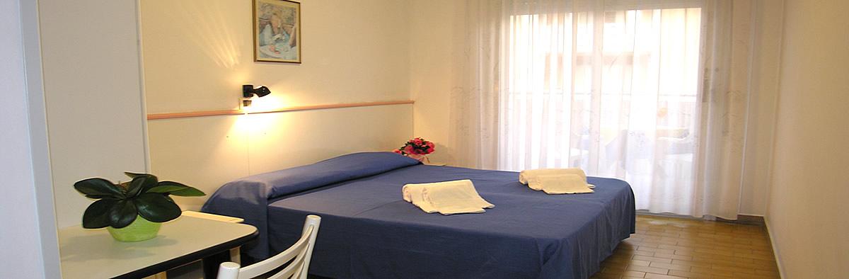 Camera da letto hotel Tahiti Bibione
