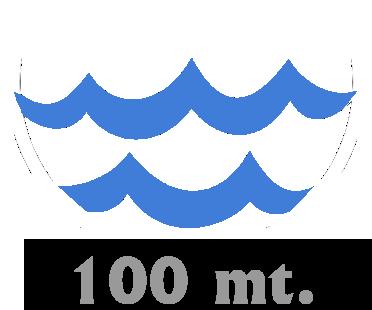 Mare a 100mt.