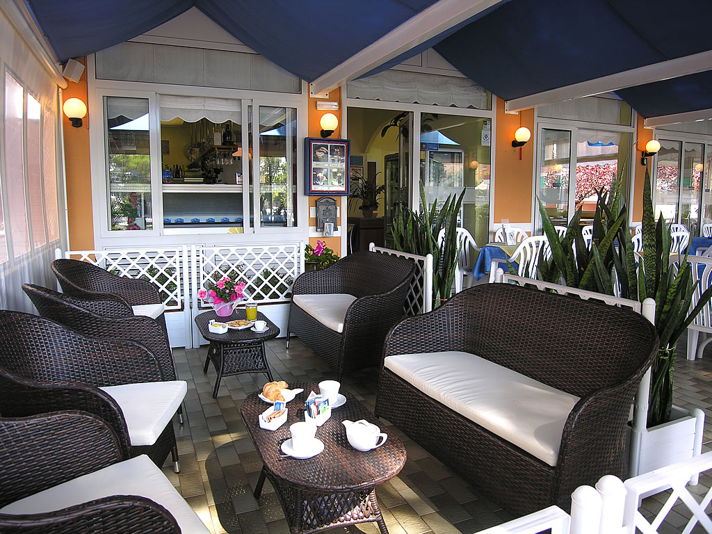 The hotel terrace